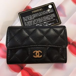 💯% Authentic CHANEL Classic Flap Card Holder